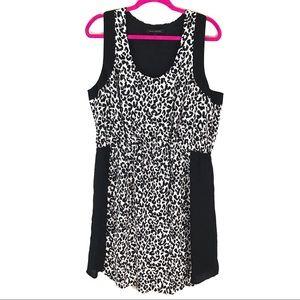 Banana Republic Stretch Waist Cheetah Print Dress